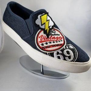 Steve Madden Denim Patchwork embroidered Sneakers